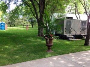 Luxury Restroom Trailer for Weddings - Jimmy's Johnnys MN