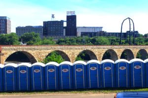 Jimmy's Johnnys Portable Toilet Rental, Stone Arch Bridge Minneapolis MN