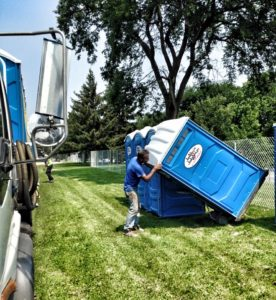 Portable Toilet Delivery and Setup