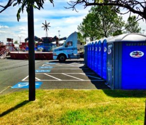 Portable restroom rental for fairs, festivals, special events, weddings and private parties