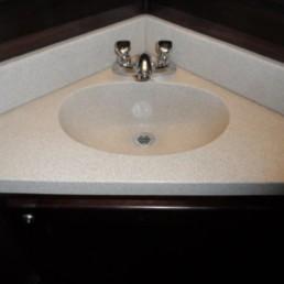 15-ft Restroom Trailer Rental Interior Sink