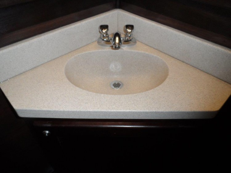 15-ft Restroom Trailer Rental Interior Sink