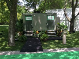 luxury restroom trailers for weddings and events from Jimmy's Johnnys Inc, Minneapolis St. Paul Minnesota