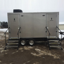 15-ft Executive Restroom Trailer Rental