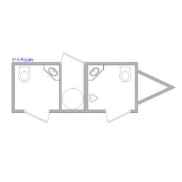 15-ft Restroom Trailer Floor Plan