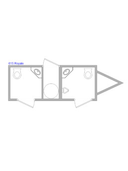 15-ft Restroom Trailer Floor Plan