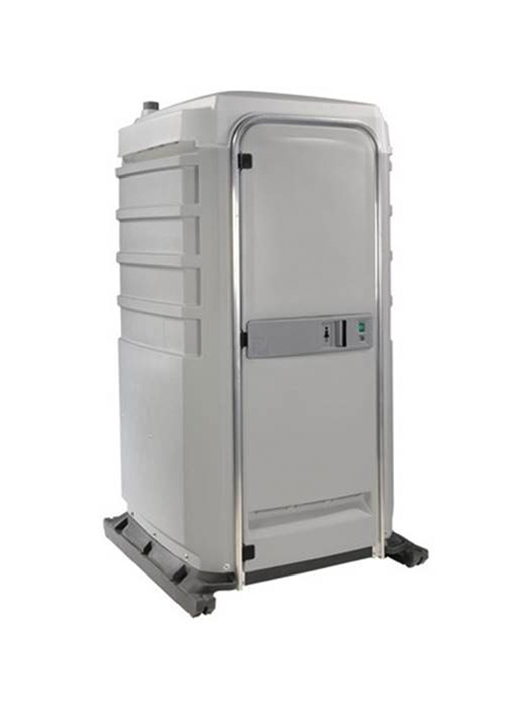 Flushable portable restroom unit jimmy 39 s johnnys for Deluxe portable bathrooms