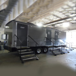 24-foot King Restroom Trailer for events and weddings