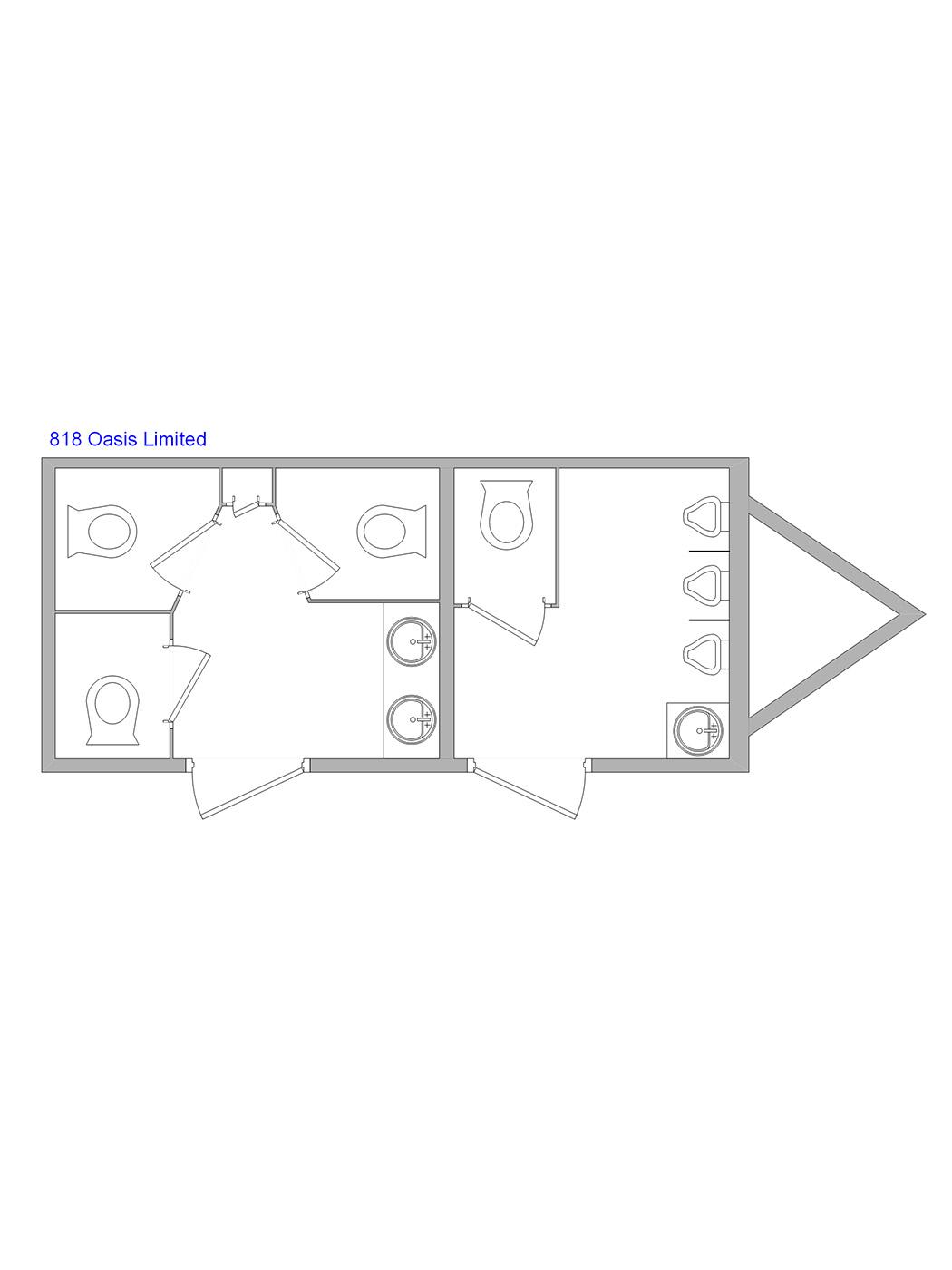 18-foot Luxury Restroom Trailer - image jj-luxury-restroom-trailer-floorplan-18ft on https://jimmysjohnnys.com