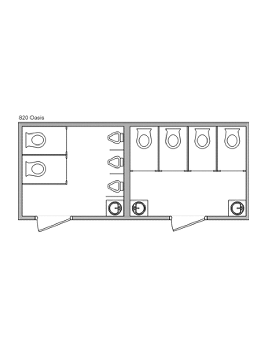 20-foot Luxury Restroom Trailer - image jj-luxury-restroom-trailer-floorplan-20ft on https://jimmysjohnnys.com