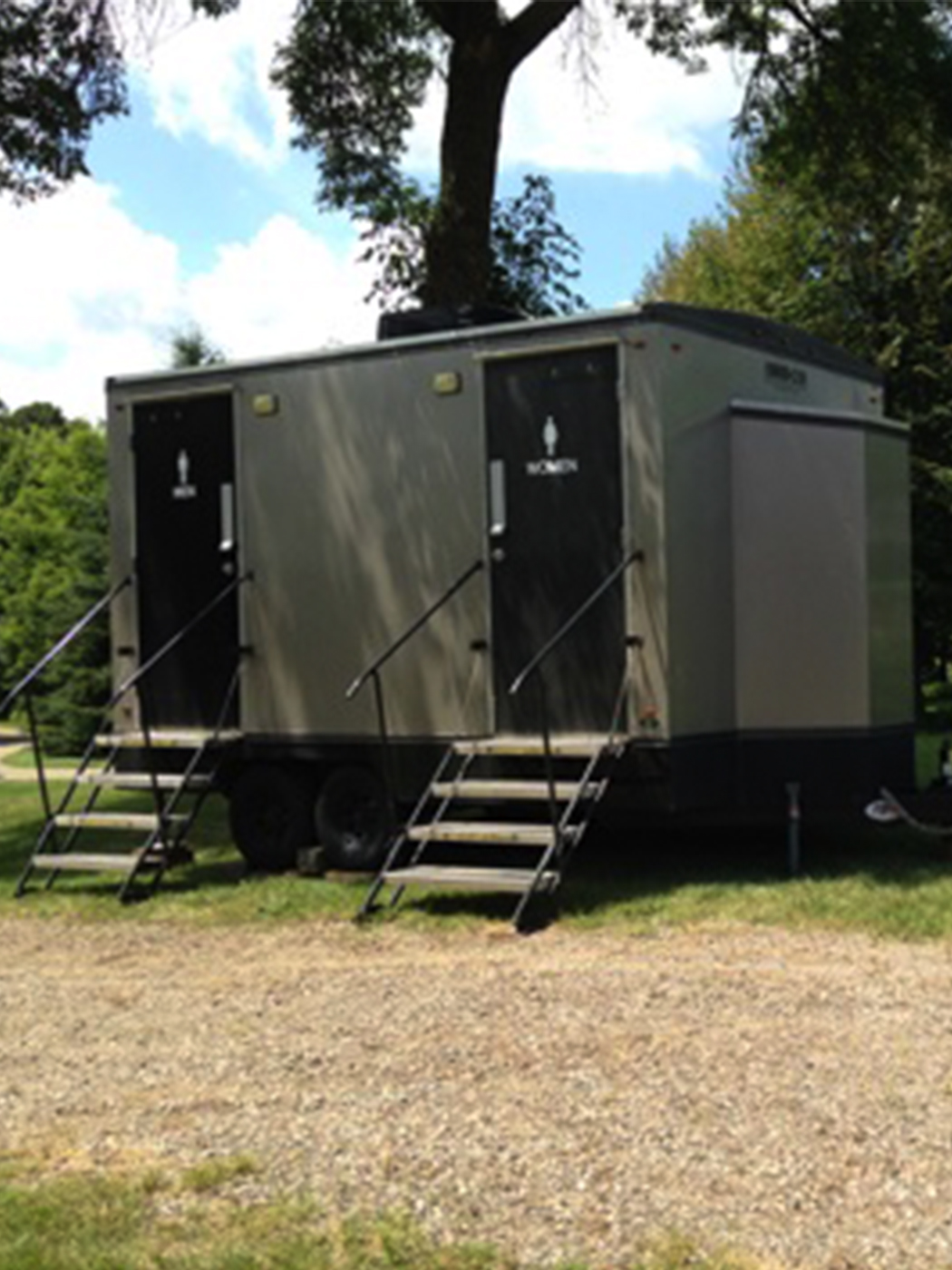 Jimmy's Johnnys 14-ft Luxury Restroom Trailer Rental