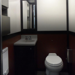 Comfortable Restroom and Shower Trailers for Weddings and Event Rental Jimmy's Johnnys