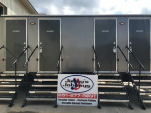 Portable shower trailer for rent